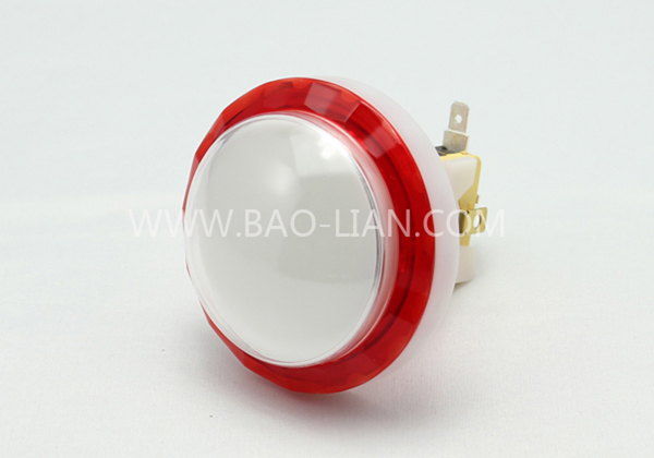6516 Round Illuminated Color Body Diamond-cut Push Button White inner