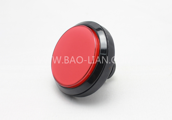 6304 Round Illuminated Black Body Push Button Color inner w/lamp