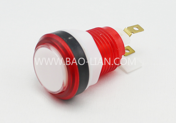 3303 Round Illuminated Color Body Push Button white inner w/LED