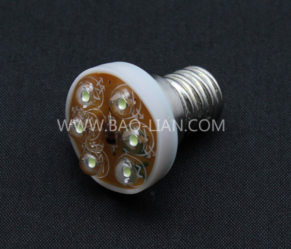 White DC24V/E12 6-LED lamp