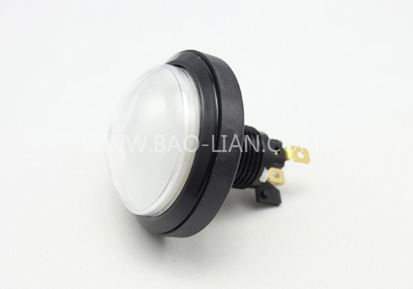 6316 Round Illuminated Black Body Push Button Color inner w/lamp