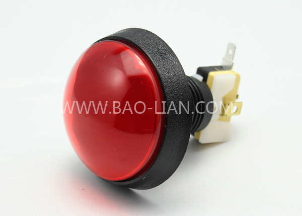 6016 Round Illuminated Black body Push Button Color inner w/lamp