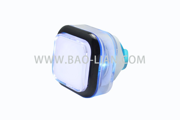 Small Square LED Pushbutton With Double Color Body (12V)