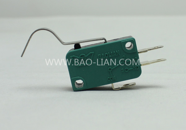 Green Three Terminal Microswitch with lever(Long curve lever)